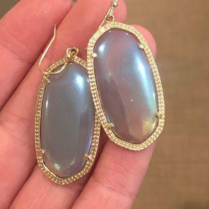 Kendra Scott Elle Gold Drop Earrings - Iridescent
